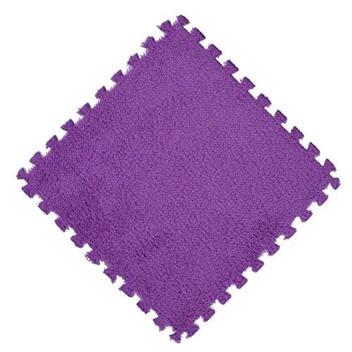 flauschig weich Teppiche artistic9(TM) 25x 25cm Schaumstoff Puzzle Matte Shaggy Samt Baby Eco Boden Kinder Teppich, Ethylenvinylacetat, e, 25 x 25 cm