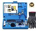 FOCHI Reifenreparatur Set, 69 TLG Heavy Duty Reifenreparaturset Auto Flickzeug für Motorrad, ATV, Jeep, LKW, PKW, Traktor Flat Reifen Punktion Reparatur