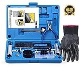 FOCHI Kit Riparazione di Pneumatici, 69 Pezzi set per moto, ATV, jeep, camion, trattori piatto pneumatico riparazione foratura