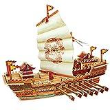ROBOTIME puzzle di legno set 3D Modello di nave della barca giocattolo per i bambini decorazione desktop Hobby adulti Ship Tour