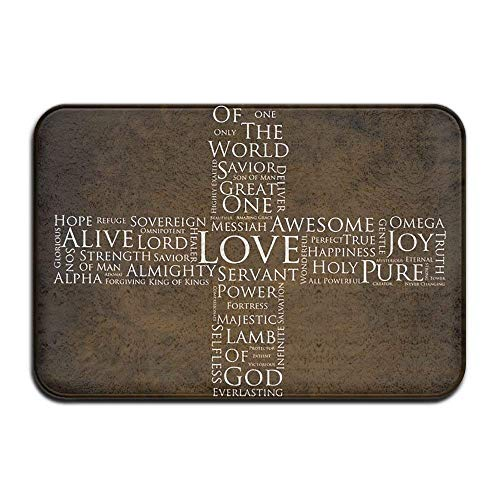 Medium Thin Cross (Casepillows Non-Slip Mat 40x60cm Doormat The Cross Non-Slip Rug - Collection Kitchen Dining Living Hallway Bathroom Pet Entry Rugs)
