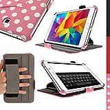"iGadgitz U2963 funda para tablet - fundas para tablets (Folio, Rosa, Color blanco, Polipiel, Samsung, Galaxy Tab 4 7"" SM-T230 Wifi & SM-T235 3G LTE)"