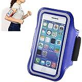 Brassard Sport Housse Etui-brassard pour Jogging Gym Ridding pour vélo de course à pied pour Apple iPhone 5/5S/5C/4/4S-Bleu
