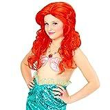 NET TOYS Parrucca Rossa per Bambine | Parrucca di Sirena Arielle | Capelli delle Ragazze ondina | Accessorio per Sirenetta