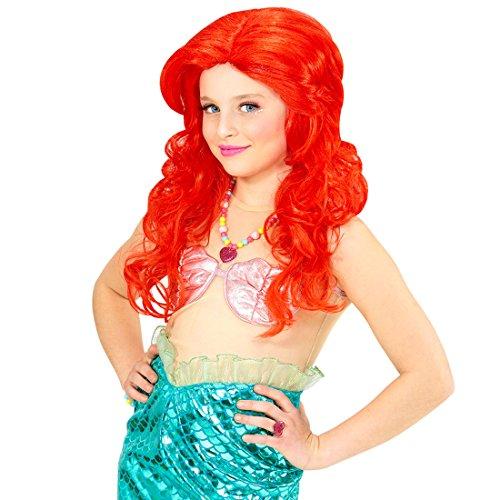 Perücke Kostüm Mädchen Meerjungfrau - NET TOYS Rote Kinderperücke Meerjungfrau Arielle Kinder Perücke Mädchenperücke Prinzessin Nixe Karnevalsperücke für Mädchen