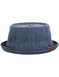 Kangol Indigo Mowbray Pork Pie Hut aus Baumwolle - indigo wash