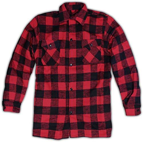 Storfisk fishing & more Herren Winter Holzfällerhemd extrawarm, schwere Qualität 400g/m², Flanellhemd aus 100{07a5fb4c6e5557acbfb4389e278e8828822f5e46a5053b116694d406479c69d9} Baumwolle, Größe:L, Farbe :Rot