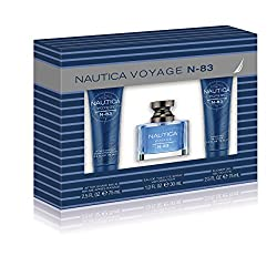 Nautica N83 3 Piece Gift Set (1.0 Ounce Eau De Toilette Plus 2.5 Ounce Aftershave Balm Plus 2.5 Ounce Shower Gel) by Nautica