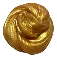 HUHU833 Colorful Rubber Mud, Fluffy Floam Slime Malleable Polymer Developmental Magic Colorful Clay Toy (Gold)