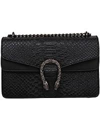 Windwelle Damen PU Leder Quadratische Kette Handtasche Schultertasche Messenger Bag Umhängetasche Von Elelife-Geschäft