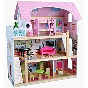 Casa delle bambole in legno con mobili giochi - Casa delle bambole in legno ikea ...
