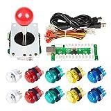 EG Starts zéro Delay USB Encoder Pour Ordinateur Jeux Manette Rouge + 10x LED lumineux 5V boutons pour arcade joystick Kit DIY Parties Mame Raspberry Pi 233B