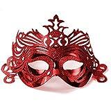 party-maske effetto-glitter rosso Carnevale Ballo In Maschera Carnevale Maschera da viso VENEZIANA maschera per gli occhi maskenparty. VON HAUS DER CUORI