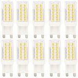 10 Stück G9 LED 5W Lampe LED Leuchtmittel mit 44 SMD 2835,ersetzt 40W Halogen Warmweiß 360° Abstrahlwinkel,Nicht Dimmbar, AC 220-240V