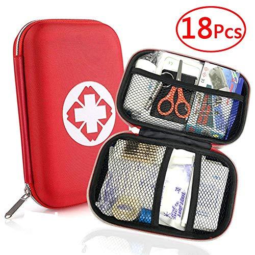 Mini Erste-Hilfe-Tasche Einschließlich Instant Cold Pack Und Emergency Blanket Für Haus, Büro, Auto, Wohnwagen, Arbeitsplatz, Reisen Und Sport (Rot),44pcs -