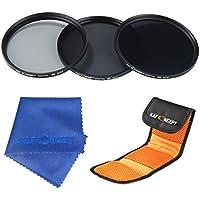 ND Filtro 52mm, K&F Concept Filtro ND2 4 8 3 Pcs Filtro Neutro Kit + Panno di Pulizia + Filtri Custodia/Borsa/Caso/Carry bag/Case per Canon 7D 700D 600D 70D 60D 650D 550D Nikon D7100 D80 D90 D7000 D5200 D3200 D5100 D3200 D5300 DSLR Cameras