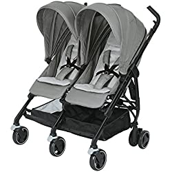 Bébé Confort Dana For2 - Silla de paseo gemelar, color nomad grey