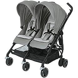 Bébé Confort Dana For2 - Silla de paseo gemelar, color nomad grey