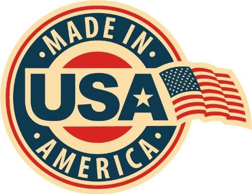 Made In USA America FLag Emblem Badge Star Hochwertigen Auto-Autoaufkleber 12 x 10 cm - 'made Usa In