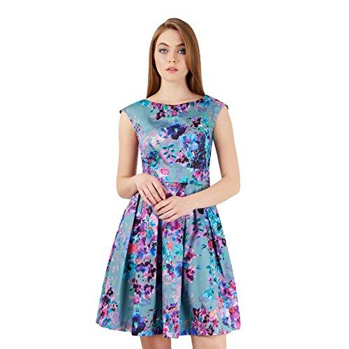 Closet Portobello Multi Floral Kleid grau XS oder S Grau