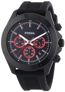 Fossil - CH2874 - Montre Homme - Quartz Chronographe - Chronomètre/ Aiguilles lumineuses - Bracelet Silicone Noir