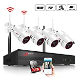 ANRAN Wireless Security Camera System HD 1080p WiFi NVR 4 IP Cameras