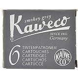 Kaweco Cartouches d'Encre courtes, Smokey Grey (Gris), 6 pièces