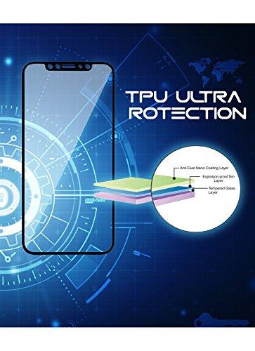 iPhone X 10 Schutzfolie aus TPU Panzerglas Anti-Krater Blasenfrei HD 9H 3D Kompatibel Komplette Abdeckung Klar Hohe Transparenz Panzerglasfolie Folie Schutz Displayschutzfolie Anti ÖL (Schwarz)