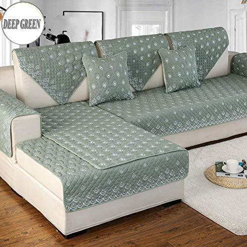 1949shop Anti-Rutsch Gesteppte Möbel Protektoren Abdeckungen für Haustier Hund, die ganze Saison Sofa Schonbezug Moderne Baumwolle Schnitt Sofa Wurf Abdeckung Pad für l U-förmige Sofa-1 Stück-M 35x47 -