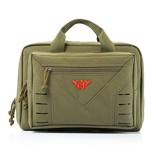 YAKEDA Tactical Shooting Gun Gamma Borsa tattica della pistola Gamma borsa andare con spalle regolabile cinghie 10L-A88080 (verde)