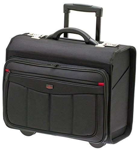 Davidts Pilotenkoffer Aktentrolley Business Trolley tasche Laptoptasche Schwarz 261 113 Bowatex