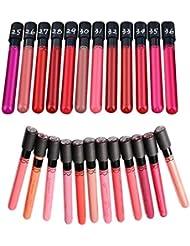 MagiDeal Lot de 24 Couleurs Waterproof Gloss à Lèvres Liquide Mat Velours Longue Tenue Rouge à Lèvres Hydratant