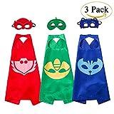Costumes de Super Héros pour Enfants - 3 Capes et Masques