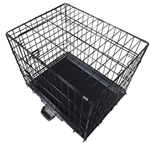 Quality Pet Dog Puppy Cat Training Cage Crate Carrier with Twin Door 30  30 Inch and Tray by KMS