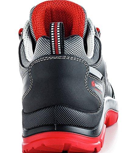 Sport Plus S3 Flexitec Sicherheitsschuh Schwarz Rot