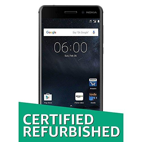 (Certified Refurbished) Nokia 6 (Matte Black, 32GB)