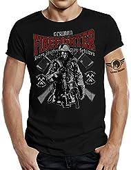 Original LOBO NEGRO® Design T-Shirt für die Feuerwehr: German Firefighters
