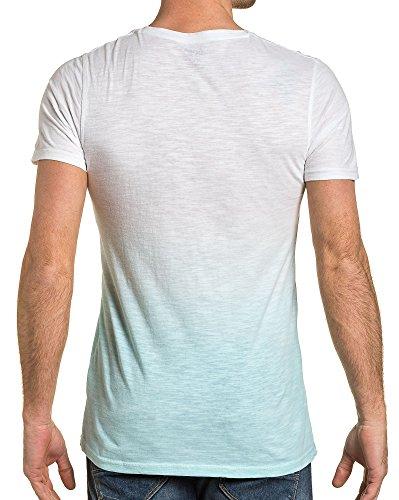 BLZ jeans - T-Shirt Mann Ende grün gedruckt V-Ausschnitt Grün