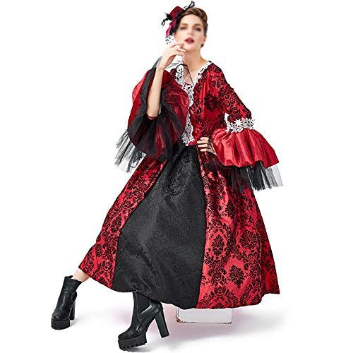 Royal Princess Kostüm - FKLMRKL Mittelalterliche Retro Gericht Kleid Rock
