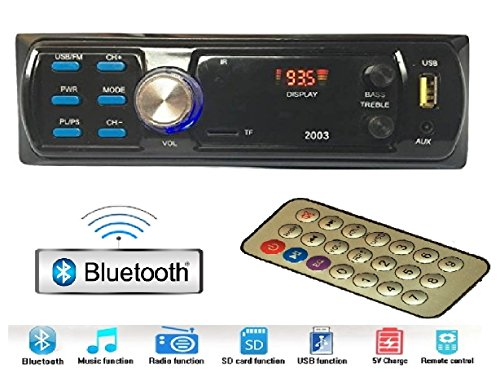 Gadget Deals 2003 Bluetooth Car Stereo Media mp3 Music System Player (FM/AUX/USB/MMC)