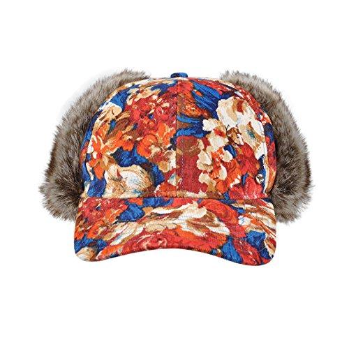 Kenmont automne-hiver femmes Lady Laine Cadet militaire Hat Casquette de baseball Rouge