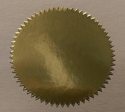 Pack Of 200 - 41mm Starburst Notary / Legal / Certificado Juntas - Código De Color Pegatinas / Etiquetas Adhesivas - Elija Su Color/s - Oro Brillante, Estrellas 41mm