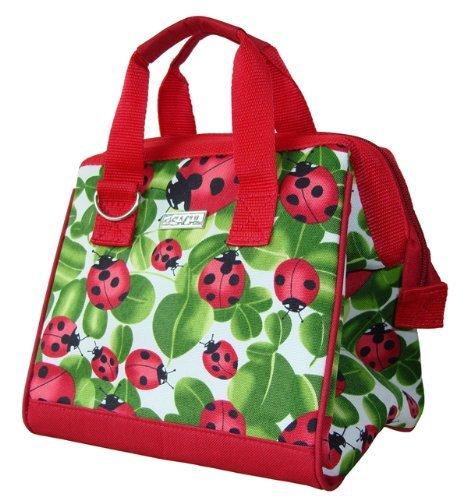 Jeaqw home sachi 34-029 insulated fashion lunch tote, ladybug