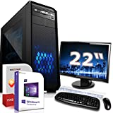 Gaming PC Komplett Set/Multimedia Computer inkl. Windows 10 Pro 64-Bit! - AMD Quad-Core A10-7890K 4X 4.1 GHz - AMD Radeon R7-16GB DDR3 RAM - 120GB SSD + 1000GB HDD - 22-Zoll TFT Monitor - 24-Fach