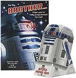 Hallmark Star Wars Birthday Card For Brother 'Build Your Own R2D2 Money Box' - Medium