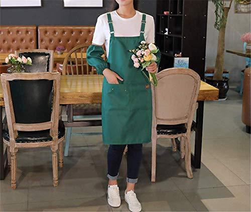 YXDZ (2 Stücke Mode Ärmellose Küchenschürze Restaurant Kaffee Tee Shop Hot Pot Shop Overalls Wasserdicht Anti-Fouling Öl Karte Schürze Grün 02 (Person Einhorn Kostüm 2)