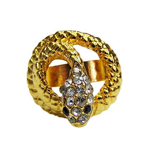 Ring goldene Schlange mit Strasssteinen für Kostüm Cleopatra