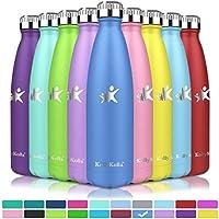 KollyKolla Vakuum Isolierte Edelstahl Trinkflasche, BPA Frei Wasserflasche Auslaufsicher - 350/500/650/750ml,...