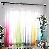 Zantec 1 STÜCKE Farbverlauf Fenster Gaze Vorhang Drapieren für Home Hotel Dekoration