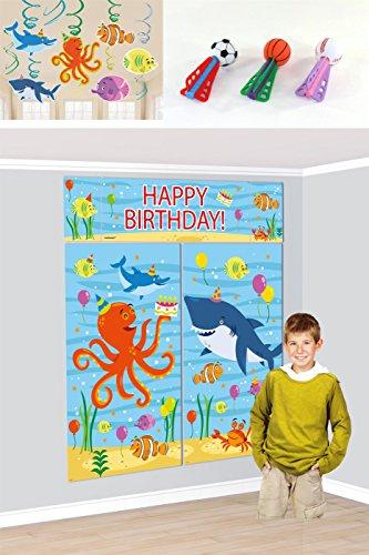 Preisvergleich Produktbild DEKOSET - OCEAN BUDDIES - ( Wandbild, Deko Hänger + Softbälle Dart )